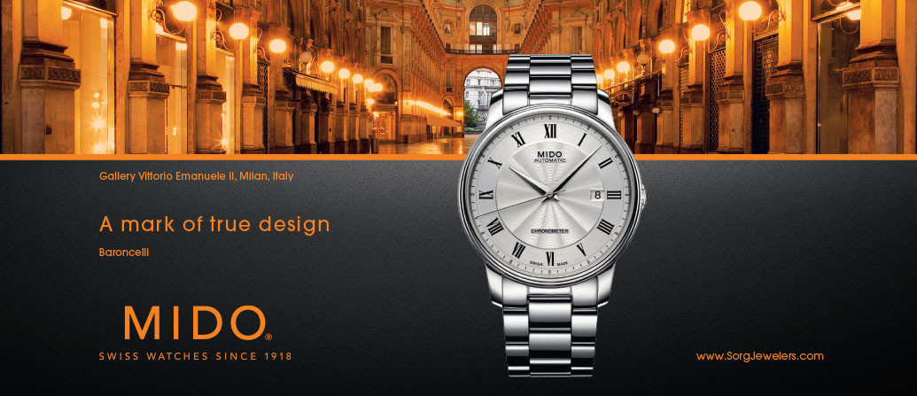 Mido – white Baronelli watch